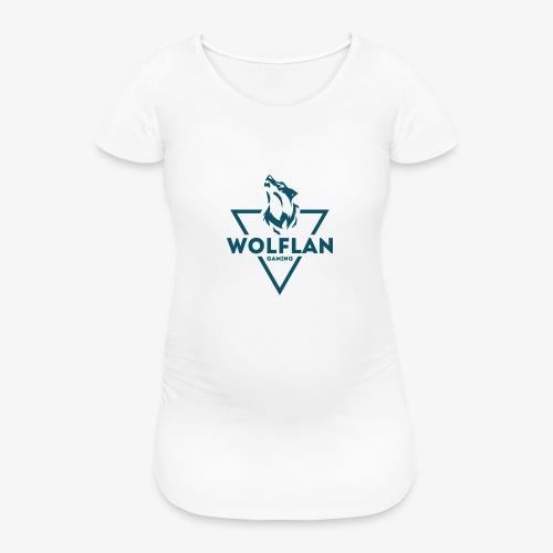 WolfLAN Logo Gray/Blue - Women's Pregnancy T-Shirt