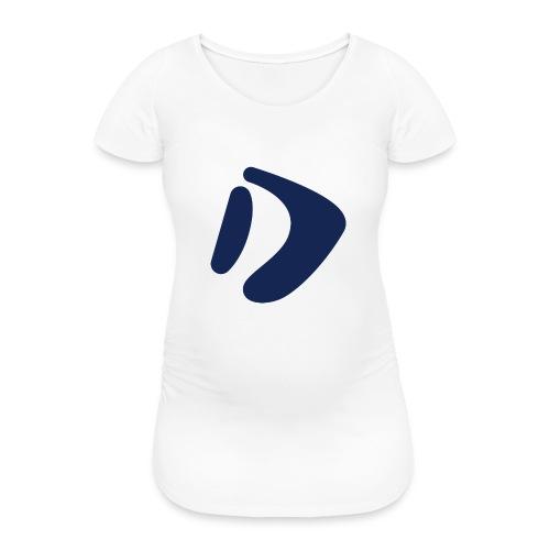 Logo D Blue DomesSport - Frauen Schwangerschafts-T-Shirt