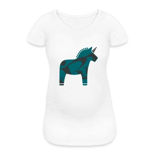 Swedish Unicorn - Frauen Schwangerschafts-T-Shirt
