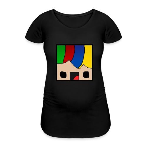 ProfSaurusCartoon - Frauen Schwangerschafts-T-Shirt