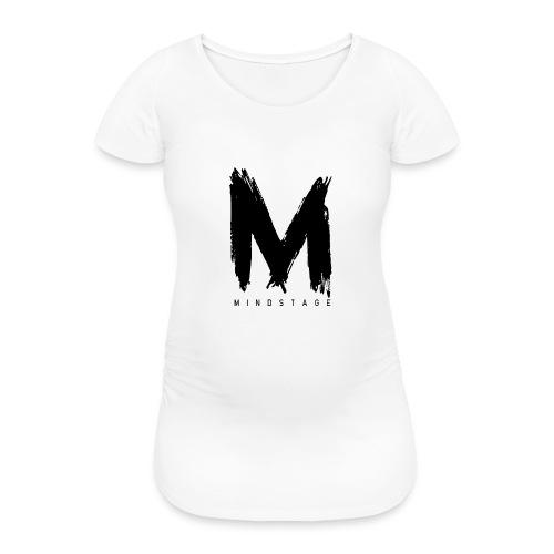 Logo Schwarz - Frauen Schwangerschafts-T-Shirt