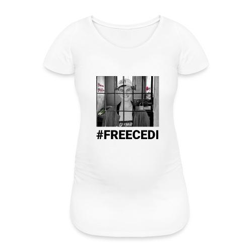 #FREECEDI - Frauen Schwangerschafts-T-Shirt