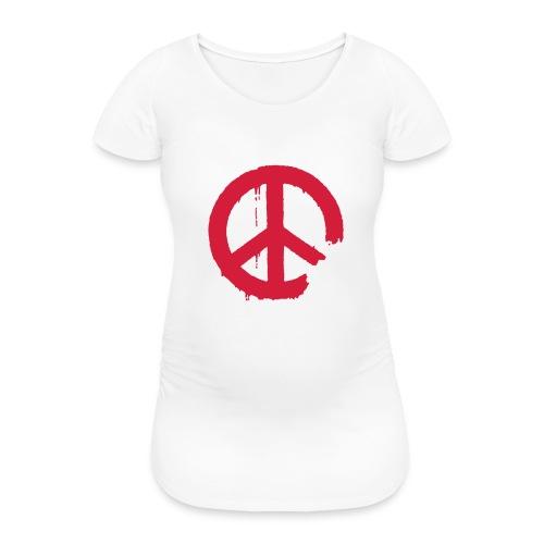 PEACE - Frauen Schwangerschafts-T-Shirt
