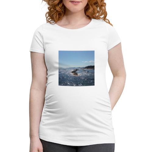 Mer avec roches - T-shirt de grossesse Femme