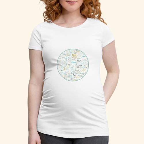 Ich bin - Frauen Schwangerschafts-T-Shirt