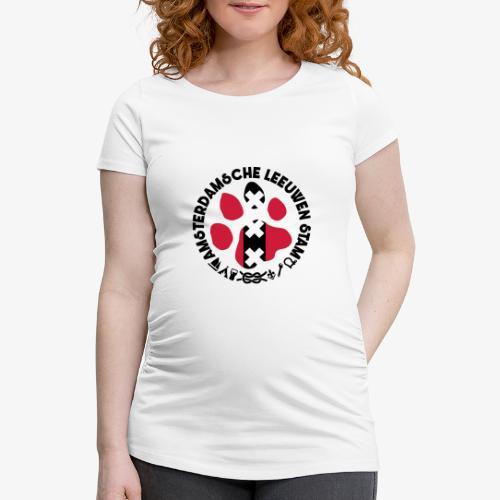 ALS witte cirkel lichtshi - Vrouwen zwangerschap-T-shirt