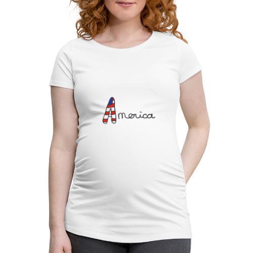 America - T-shirt de grossesse Femme