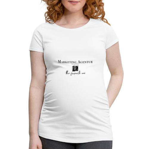 MARKETING AGENTUR - Frauen Schwangerschafts-T-Shirt