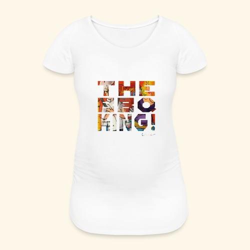 THE BBQ KING T SHIRTS TEKST - Vrouwen zwangerschap-T-shirt