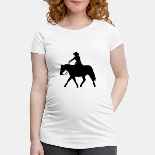 Ranch Riding extendet Trot - Frauen Schwangerschafts-T-Shirt