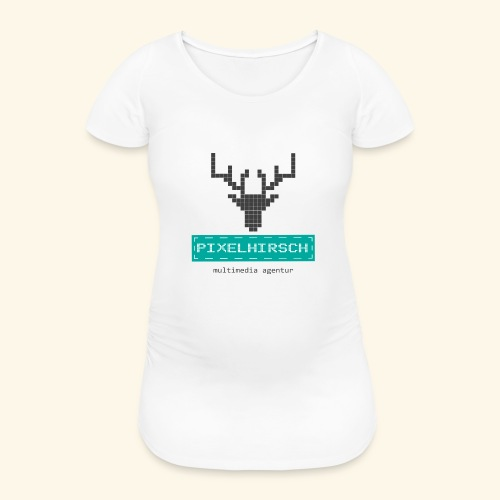 PIXELHIRSCH - Logo - Frauen Schwangerschafts-T-Shirt