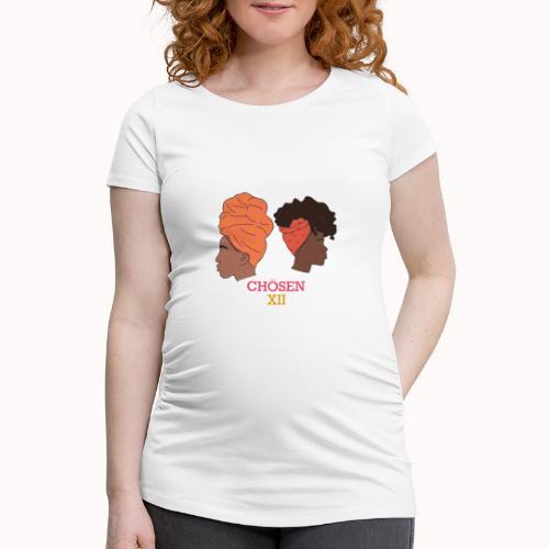 Headwrapped Princesses - Vrouwen zwangerschap-T-shirt