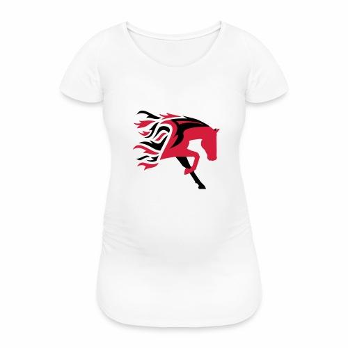Horse Flame - Frauen Schwangerschafts-T-Shirt