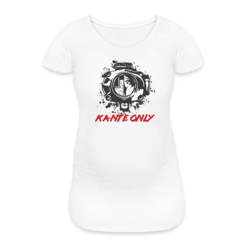 Kante Only (weiß) - Frauen Schwangerschafts-T-Shirt
