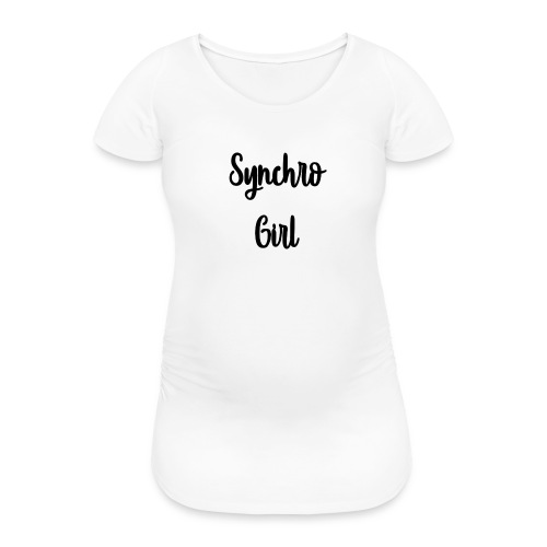 Synchro Girl - Naisten äitiys-t-paita