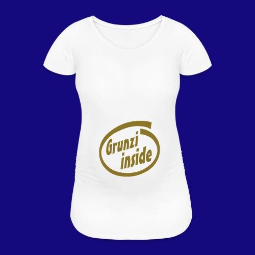 grunziinside - Frauen Schwangerschafts-T-Shirt