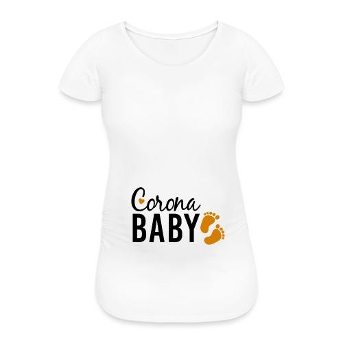 Corona Baby neutral Babybauch Schwangerschaft - Frauen Schwangerschafts-T-Shirt