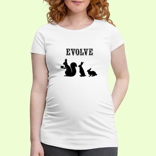 EvolveBunny - Vrouwen zwangerschap-T-shirt