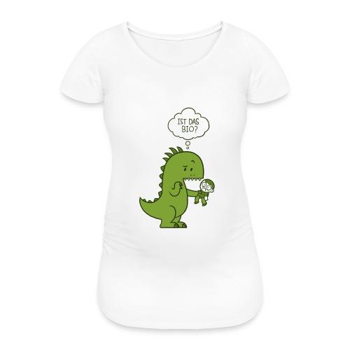 Bio-Dinosaurier - Frauen Schwangerschafts-T-Shirt