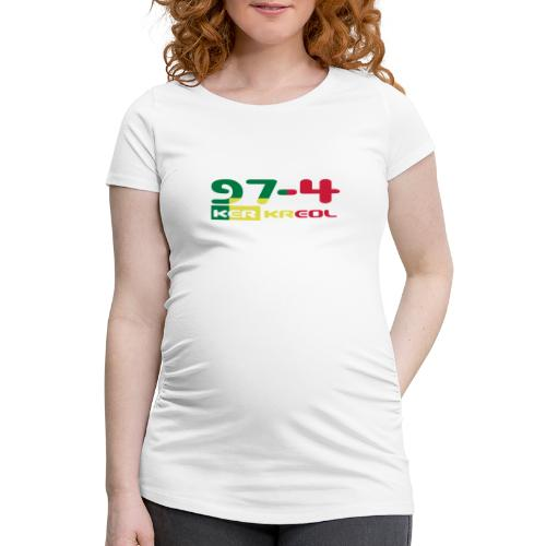 974 ker kreol Rastafari - T-shirt de grossesse Femme