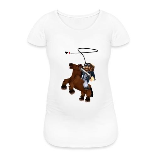 Titan y su rocinante café - Camiseta premamá