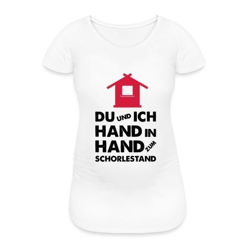 Hand in Hand zum Schorlestand / Gruppenshirt - Frauen Schwangerschafts-T-Shirt