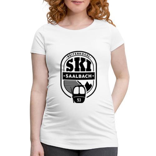 Embleem III Saalbach - Vrouwen zwangerschap-T-shirt