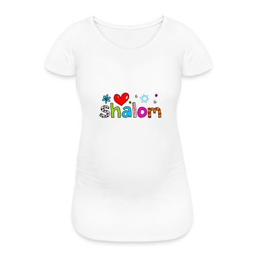 Shalom II - Frauen Schwangerschafts-T-Shirt
