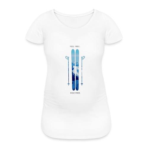 Freeski - Black - Frauen Schwangerschafts-T-Shirt