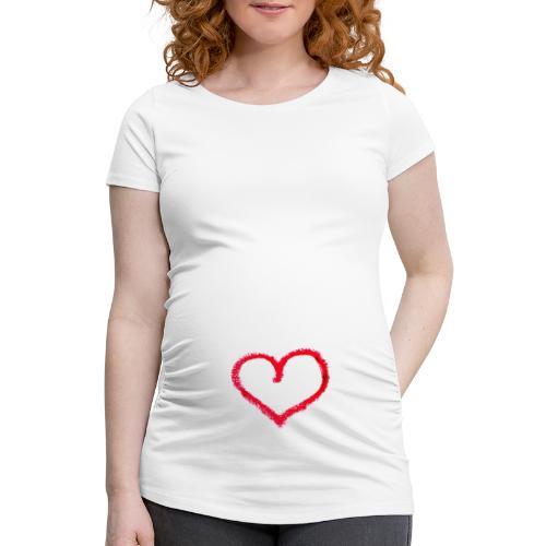 Herz - Frauen Schwangerschafts-T-Shirt