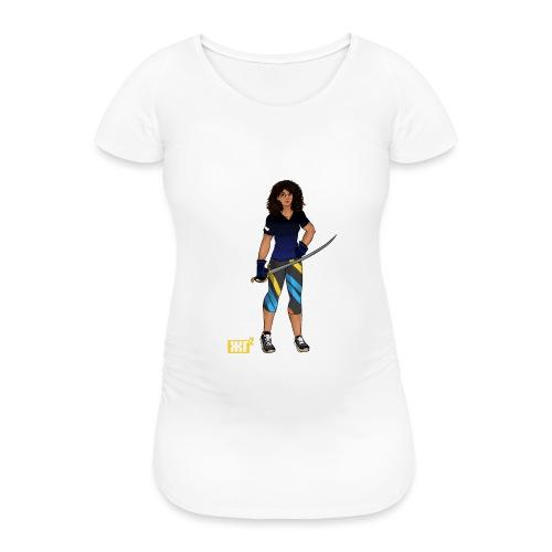 Sabre fencer - Women's Pregnancy T-Shirt