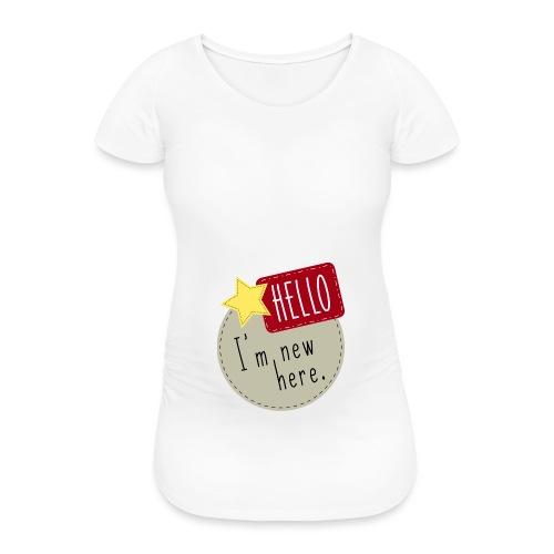 Hello I´m new here Babybody Geburt Geschenk - Frauen Schwangerschafts-T-Shirt