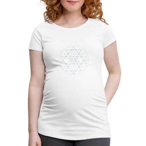 Harmaa geometrinen Shri Yantra -kuvio - Naisten äitiys-t-paita
