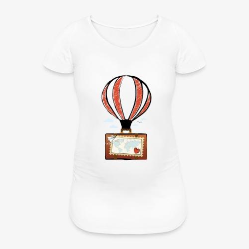 CUORE VIAGGIATORE Gadget per chi ama viaggiare - Maglietta gravidanza da donna
