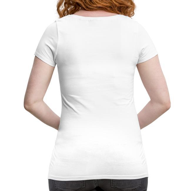 Vorschau: Da Test wor positiv, oba ned auf Corona - Frauen Schwangerschafts-T-Shirt