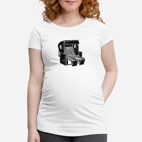 Strandkorb Illustration von Clarissa Schwarz - Frauen Schwangerschafts-T-Shirt