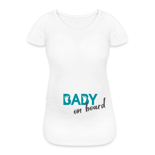 baby board schwanger Babybauch Geschenk Füße - Frauen Schwangerschafts-T-Shirt