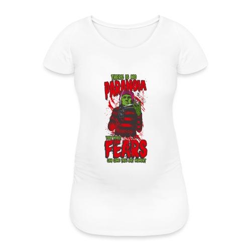 There is no paranoia - T-skjorte for gravide kvinner