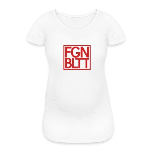 Feigenblatt Logo Rot (Quadrat) - Frauen Schwangerschafts-T-Shirt