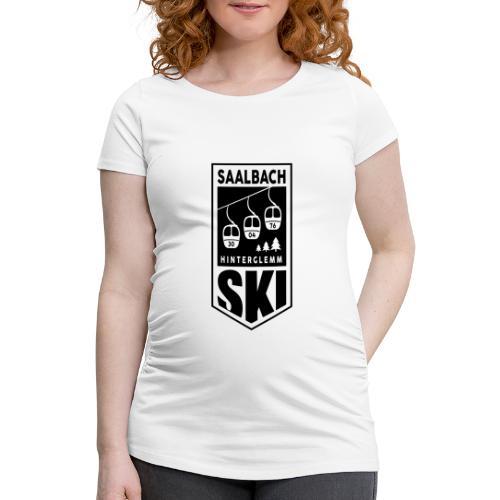 SKI embleem Saalbach - Vrouwen zwangerschap-T-shirt