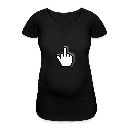 Middle_Finger_Design - Women's Pregnancy T-Shirt