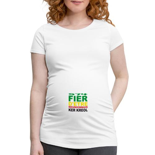 Logo fier d'etre kreol 974 ker kreol - Rastafari - T-shirt de grossesse Femme