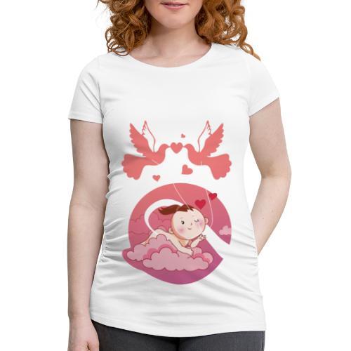 Süße Umstandsmode Schwangerschaft T-Shirt Mädchen - Frauen Schwangerschafts-T-Shirt