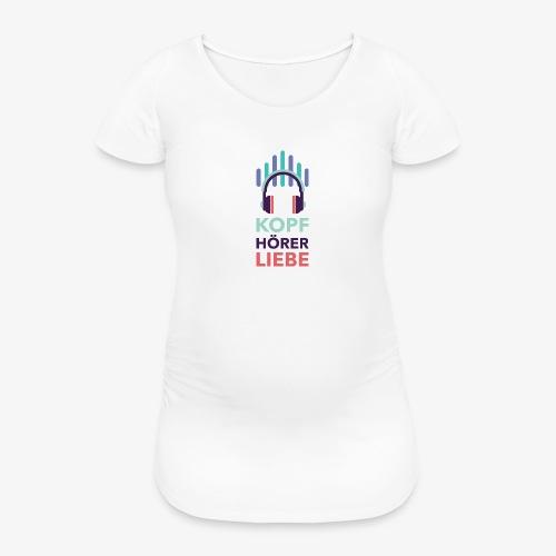 kopfhoererliebe bunt - Frauen Schwangerschafts-T-Shirt