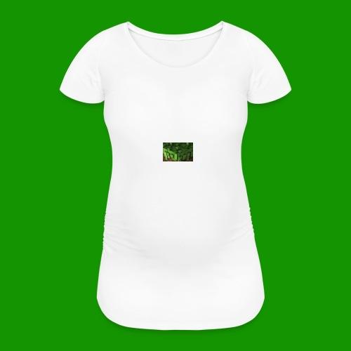 Alpha_Dirt Kissen - Frauen Schwangerschafts-T-Shirt