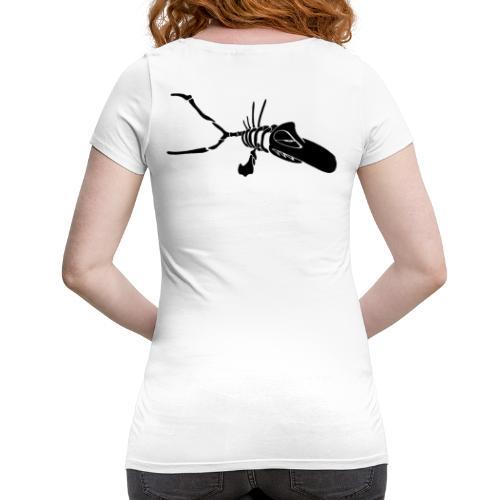 Fisch BlackonWhite_Kontur - Frauen Schwangerschafts-T-Shirt