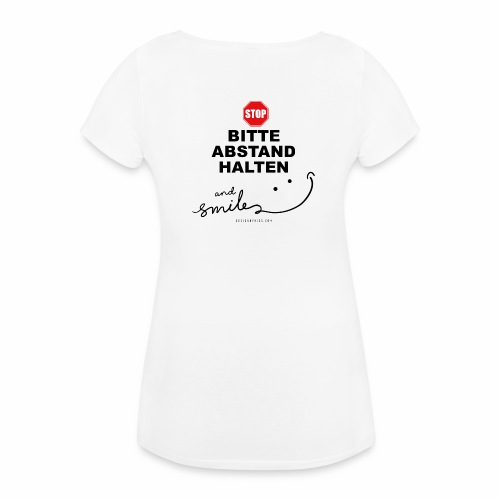 SpreadAbstandHalten3 - Frauen Schwangerschafts-T-Shirt