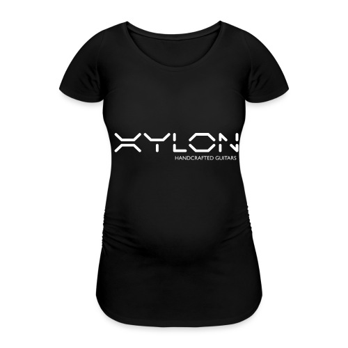 Xylon Handcrafted Guitars (name only logo white) - Women's Pregnancy T-Shirt