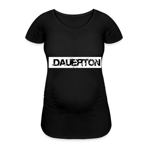 DauerLogo_Hintergrund_Weiss - Frauen Schwangerschafts-T-Shirt