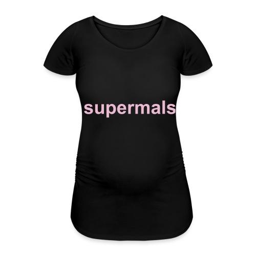 Supermals - Vrouwen zwangerschap-T-shirt